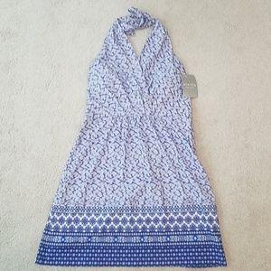 Athleta blue halter dress